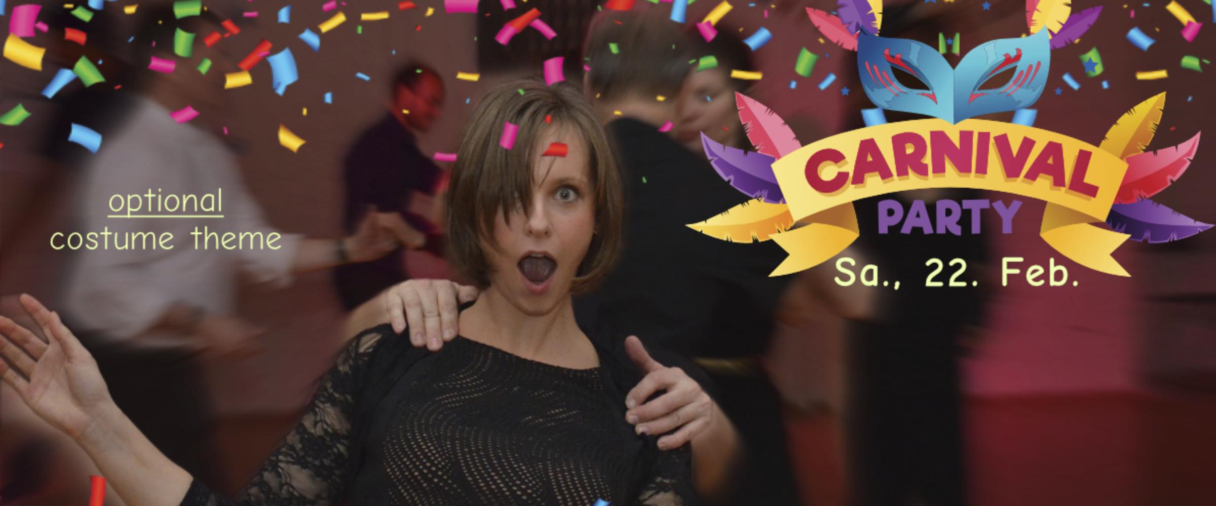 Modern Jive Karneval-Party: 22. Februar ab 21:00 Uhr mit Intro-Kurs